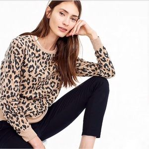 J Crew leopard animal print medium sweatshirt